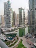 Skyline UAE de Dubai Foto de Stock Royalty Free