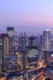 Skyline of Umeda District, Osaka, Japan Stock Photos