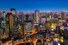 Skyline of Umeda District in Osaka Royalty Free Stock Images