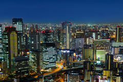 Skyline of Umeda District in Osaka Royalty Free Stock Photography