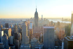Skyline und Empire State Building Newyork stockfotos