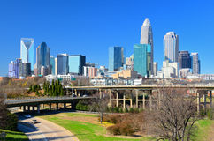 Skyline of Uptown Charlotte Royalty Free Stock Photos