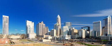 Skyline of Uptown Charlotte Stock Images