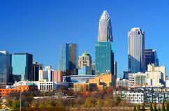 Skyline of Uptown Charlotte Stock Photos