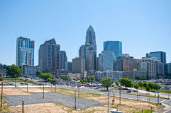 Skyline of Uptown Charlotte Stock Photo