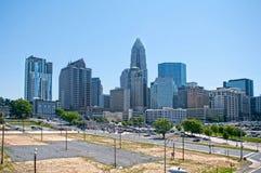 Skyline of Uptown Charlotte. North Carolina Stock Photo