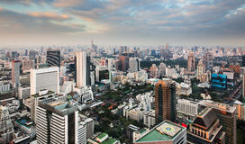 Skyline urbana da cidade, Banguecoque, Tailândia. fotos de stock