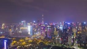 Skyline urbana de Shenzhen na noite r Guangdong, China video estoque