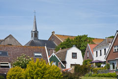 Skyline of Urk, an old Dutch fishing village Royalty Free Stock Photos