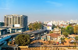 Skyline of Vadodara, formerly known as Baroda, the third-largest city in Gujarat, India. Skyline of Vadodara, formerly known as Baroda, the third-largest city in stock photo