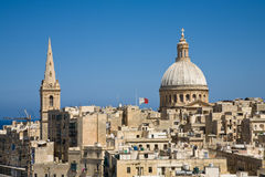 Skyline, Valletta Lizenzfreie Stockfotos
