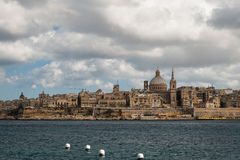 Skyline of the Valletta city Stock Photo