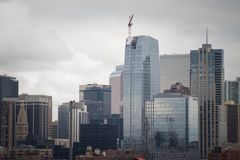 Skyline van Denver Stock Foto