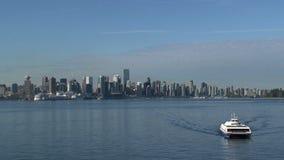 Skyline Vancouver, British Columbia, Canada stock video footage