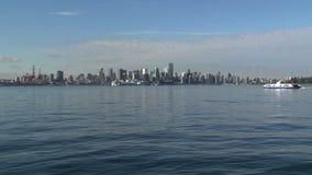 Skyline Vancouver, British Columbia, Canada stock video