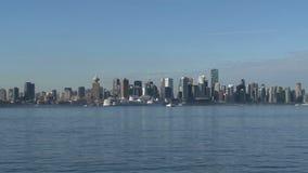 Skyline Vancouver, British Columbia, Canada stock footage