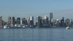 Skyline Vancouver, British Columbia, Canada fast zoom-out stock video footage