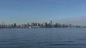 Skyline Vancouver, British Columbia, Canada, waterplane landing stock video