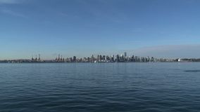 Skyline Vancouver, British Columbia, Canada, zoom-ou stock video