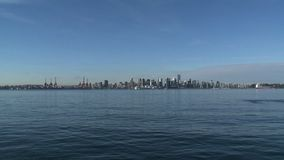 Skyline Vancouver, Canada stock video footage
