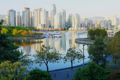 Skyline of Vancouver Royalty Free Stock Photo