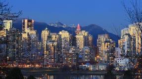 Skyline Vancouver-Yaletown Stockbilder
