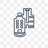 Skyline vector icon isolated on transparent background, linear S royalty free illustration