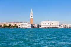 Skyline of Venice city with Doge`s Palace Stock Photos