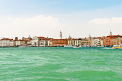 Skyline on Venice city from lagoon, Stock Image