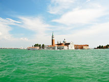 Skyline on Venice city with San Giorgio Maggiore island Royalty Free Stock Photography
