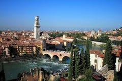 Skyline of Verona, Italy stock photography