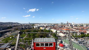 Skyline Vienna from the historic Ferris Wheel Royalty Free Stock Photos