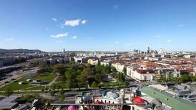 Skyline Vienna from the historic Ferris Wheel stock video