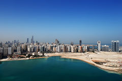 A skyline view of Abu Dhabi, UAE's capital city Stock Images