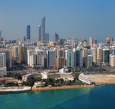 A skyline view of Abu Dhabi, UAE's capital city Stock Image