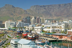 Skyline view of Cape Town Waterfront, South Africa Royalty Free Stock Photos