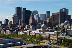 Skyline view of the city of Montreal in Quebec, Canada Stock Image