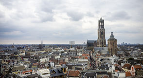Skyline view of the city of Utrecht Stock Images