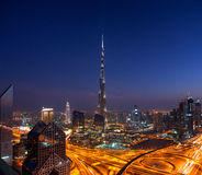 A skyline view of Downtown Dubai Royalty Free Stock Image