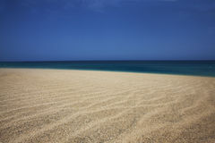 Skyline. View from a dune at the beach on the Salt island, Cape Verde Stock Photos
