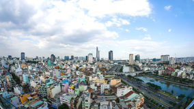 Skyline view of Ho Chi Minh City in the day Royalty Free Stock Image