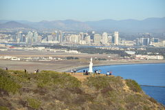 Skyline view at Juan Rodríguez Cabrillo National Monument Royalty Free Stock Photos