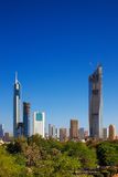 A skyline view of Kuwait City Stock Photo