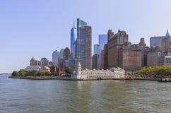 Skyline view of Lower Manhattan, NY, USA Stock Photo