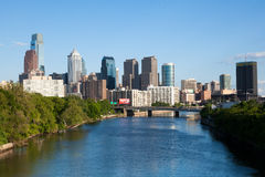 Skyline view of Philadelphia, Pennsylvania Royalty Free Stock Image