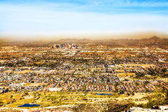 Skyline View of Phoenix Arizona From South Mountain Royalty Free Stock Photo