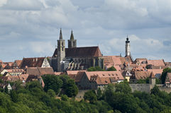 Skyline view of Rothenburg Royalty Free Stock Photos