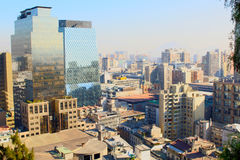 Skyline view of Santiago de Chile Stock Photography