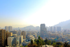 Skyline view of Santiago de Chile Royalty Free Stock Photo