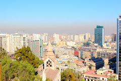 Skyline view of Santiago de Chile Royalty Free Stock Photos